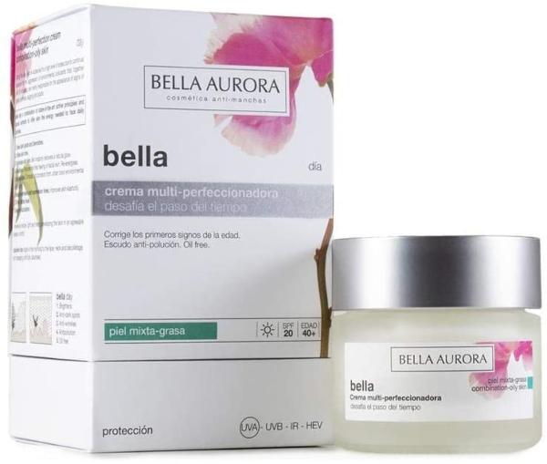 Crema facial de día hidratante y antiedad de Bella Aurora