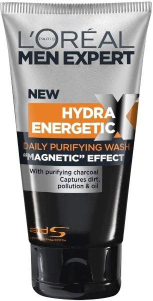 Hydra Energetic Limpiador Diario Carbón Magnético de Loreal Men Expert