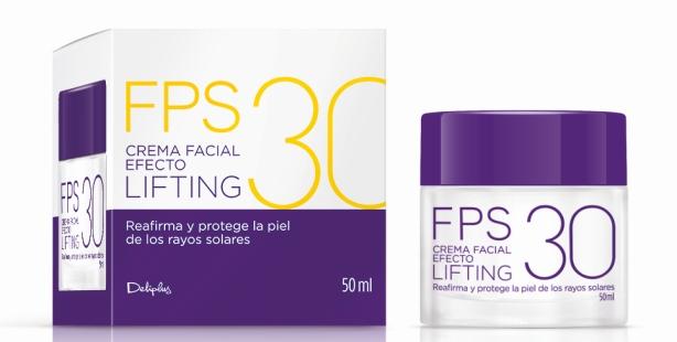 Crema facial efecto lifting FPS30