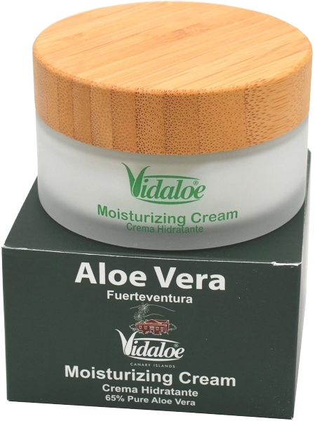 Crema hidratante de aloe vera ecológico de Vidaloe